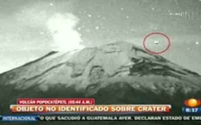 Ovni filmado no vulcão Popocatépetl