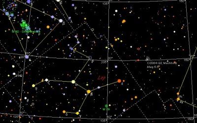 Explore um mapa estelar