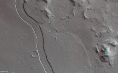 Leito de rio em Marte