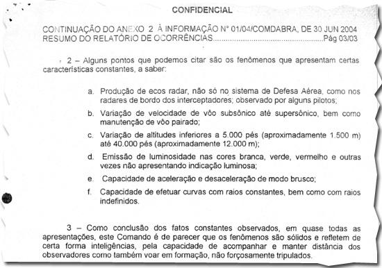 Força Aérea Brasileira admite existência de ovnis