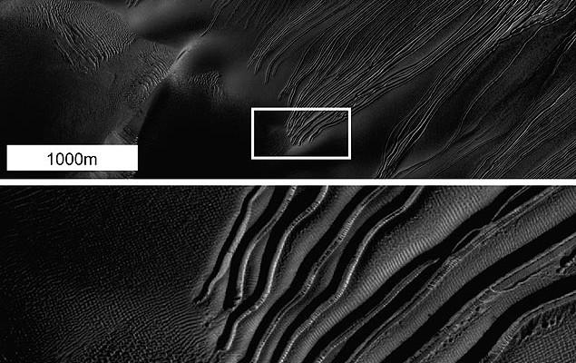 Sonda em Marte capta marcas de gelo